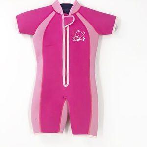JoJo Maman Bebe Pink Short Sleeve Wetsuit 2-3 T